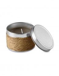 Lumanare parfumata cafea in cutiuta metalica Everestus LPD12 maro laveta inclusa
