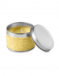 Lumanare parfumata lamaie in cutiuta metalica Everestus LPD16 galben laveta inclusa