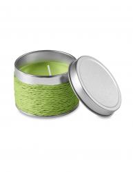 Lumanare parfumata mar verde in cutiuta metalica Everestus LPD13 verde lime laveta inclusa