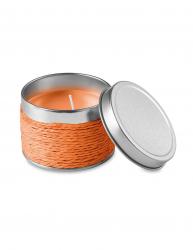 Lumanare parfumata portocala in cutiuta metalica Everestus LPD14 portocaliu laveta inclusa