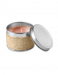 Lumanare parfumata scortisoara in cutiuta metalica Everestus LPD11 bej laveta inclusa