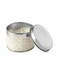 Lumanare parfumata vanilie in cutiuta metalica Everestus LPD15 alb laveta inclusa