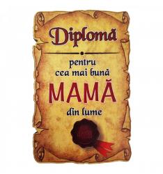 Magnet Diploma pentru cea mai buna MAMA din lume lemn Accesorii bucatarie