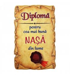 Magnet Diploma pentru cea mai buna NASA din lume lemn Accesorii bucatarie