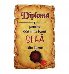 Magnet Diploma pentru Cea mai buna SEFA din lume lemn Accesorii bucatarie