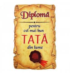 Magnet Diploma pentru Cel mai bun TATA din lume lemn Accesorii bucatarie
