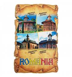 Magnet Manastiri din Romania lemn Accesorii bucatarie