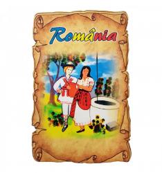 Magnet Souvenir Romania lemn Accesorii bucatarie