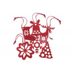Ornamente pentru bradul de Craciun - Set 6 bucati Decoratiuni Craciun