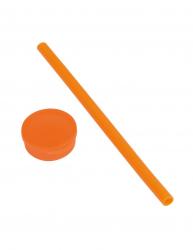 Pai din silicon reutilizabil in cutie de plastic Everestus PYP04 portocaliu Accesorii bar