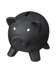 Pusculita porcusor din plastic 95x73x73 mm Everestus MBP19 pvc polistiren negru radiera inclusa Accesorii camera copil