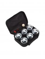 Set Boule 6 bile metalice negru Everestus JD02GH metal nailon saculet de calatorie inclus Jocuri de Societate