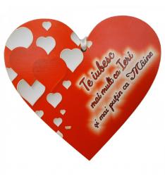 Tablita Te iubesc mai mult ca ieri din lemn