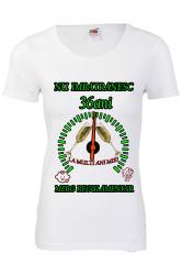 Tricou personalizat dama Fruit of the loom nu imbatranesc 36 alb M Tricouri dama