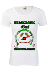 Tricou personalizat dama Fruit of the loom nu imbatranesc 48 alb M Tricouri dama