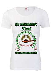 Tricou personalizat dama Fruit of the loom nu imbatranesc 52 alb M Tricouri dama