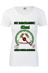 Tricou personalizat dama Fruit of the loom nu imbatranesc 60 alb M Tricouri dama