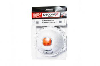 Masca de praf cu supapa FFP2 3 bucati Decorex VL42554 Articole protectia muncii