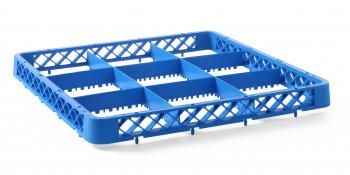 Cos universal pentru masina de spalat vase polietilena Hendi Albastru 500x500x H 45 mm 25 compartimente