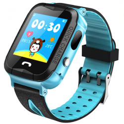 Ceas GPS Copii iUni Kid6 Touchscreen Telefon incorporat BT Camera 2MP Buton SOS Rezistent la apa Albastru Smartwatch