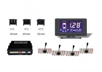 Senzor de parcare cu 4 senzori avertizare acustica si LCD Model PRO4121 Alarme auto si Senzori de parcare