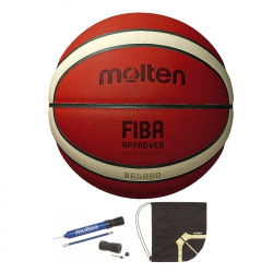 Minge baschet Molten B7G5000 oficiala FIBA FIBA OFFICIAL MATCH BALL piele naturala pompa DHP si sac