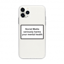 Husa Spate Silicon Upzz Label iPhone 11 Pro Max Model Social Huse Telefoane