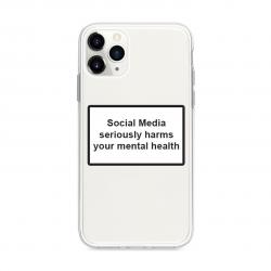 Husa Spate Silicon Upzz Label iPhone 11 Pro Model Social Huse Telefoane