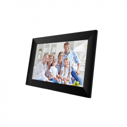 Rama digitala Frameo 10.1 inch cu touchscreen conexiune WIFI si stocare interna 16GB microUSB MicroSD negru