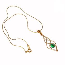 Pandantiv Elven Rose Design Elven Light handmade placat cu aur sticla Cehia Pandantive si Talismane