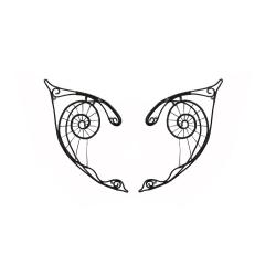 Cercei Urechi de elf Elven Rose Design Dark Webs handmade black wire marime universala Cercei