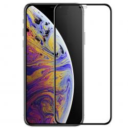 Folie de protectie pentru iPhone 11 Pro Max sticla 9D duritate 9H full glue fullscreen negru BBL1303 Folii Protectie