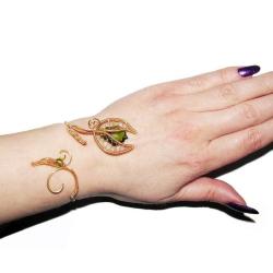 Bratara Elven Rose Design Spiritul Naturii handmade placat aur cristale Swarovski Bratari