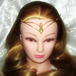 Diadema Elven Rose Design Elven Light handmade placat cu aur sticla Cehia Accesorii Dama