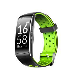 Bratara fitness inteligenta YQT Q8 cu functie de monitorizare ritm cardiac Tensiune arteriala Negru - Verde Bratari Fitness