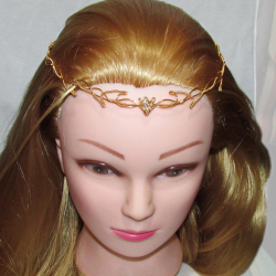 Diadema Elven Rose Design Golden Vines handmade placat cu aur cristal Swarovski Accesorii Dama