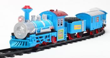Tren albastru clasic TOMEK Malplay 102005