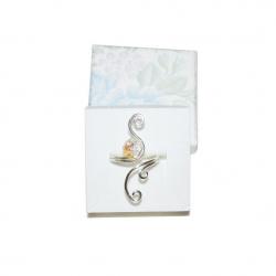 Inel Elven Rose Design Light handmade placat argint cristale Swarovski Inele