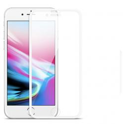 Folie Sticla Full Cover 3d Premium Hoco Soft Edge iPhone 8 Plus / iPhone 7 Plus Alb