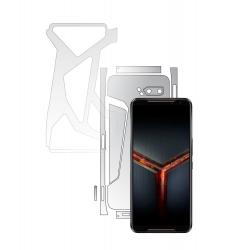 Folie Protectie Spate Invisible Skinz HD pentru Asus ROG Phone 2 II - Folie Siliconica Ultra-Clear cu taiere Split Cut pentru Carcasa Folii Protectie