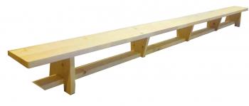 Banca Gimnastica Prospalier B40L 400x25x30 cm lacuita natur lemn Accesorii fitness