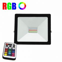 Proiector LED RGB 16 culori 20W IP 65 cu telecomanda Corpuri de iluminat