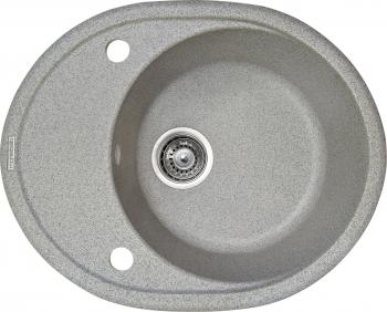 Chiuveta granit Montebella 570x470 mm cuva adanca 200 mm reversibila sifon inclus Chinchilla Gri