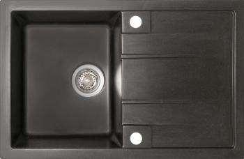 Chiuveta granit Montebella 780x500 mm cuva adanca 200 mm reversibila sifon inclus Cobra Negru