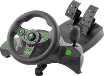 Volan Gaming cu pedale PC PS3 NITRO maneta USB Direct X X-INPUT