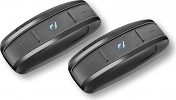 Sistem de comunicare moto Interphone Shape Dual Pack Conferinta de pana la 2 rideri simultan distanta 10 m