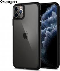 Carcasa Spigen iPhone 11 Pro Max Ultra Hybrid Matte Black Huse Telefoane