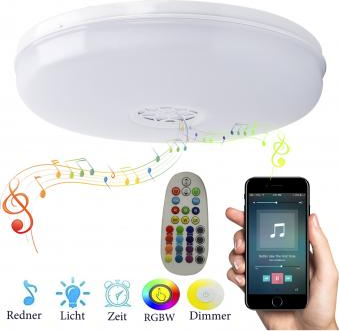 Plafoniera LED RGB 24W cu difuzor bluetooth si telecomanda 2200lm Corpuri de iluminat