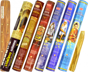 Betisoare parfumate e-palosanto aromaterapie Set Esente Indiene + Lemn Palo Santo Odorizante