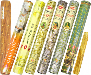 Betisoare parfumate e-palosanto aromaterapie Set Flori Pretioase + Lemn Palo Santo Odorizante